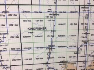 Kingfisher County Oklahoma Map.County Township Maps Oklahoma Energy Today